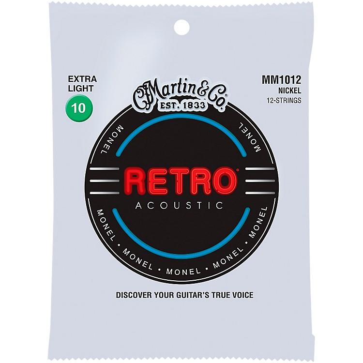 MartinMM102 Retro Extra Light 12-String Guitar Strings