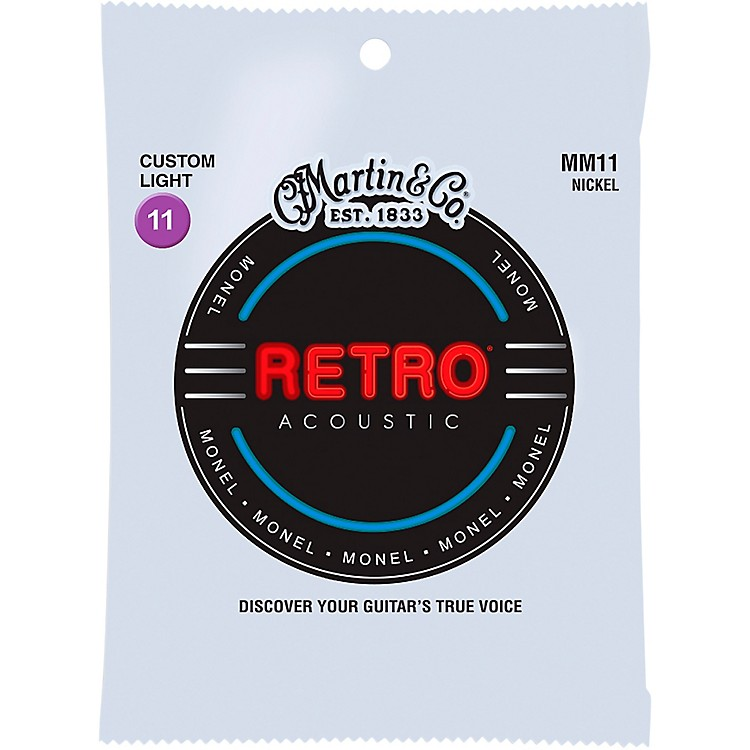 Martin MM11 Retro Custom Light Acoustic Guitar Strings