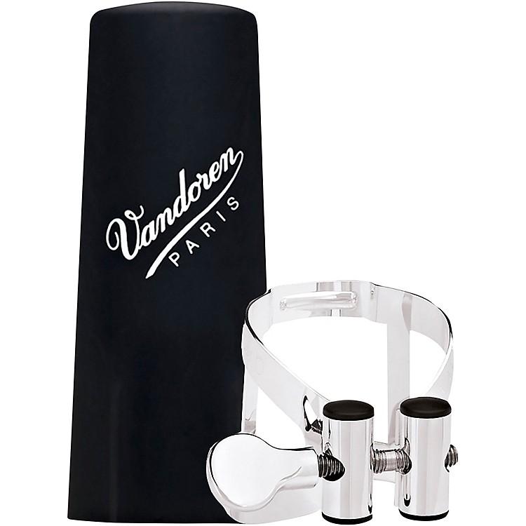 VandorenM|O Ligature and Plastic Cap for Alto Saxophone - Pink Gold