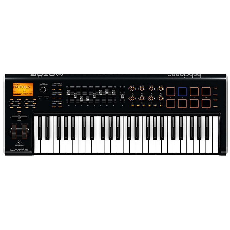 Behringer MOTÖR 49 49-Key USB/MIDI Master Controller Keyboard with Motorized Faders and Touch-Sensitive Pads Black