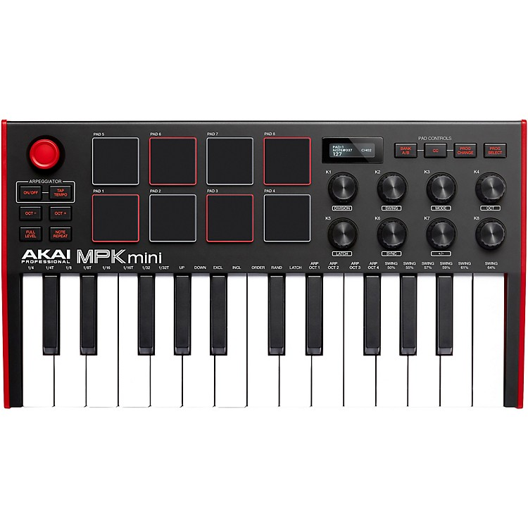 Akai ProfessionalMPK Mini MK3 Keyboard ControllerBlack