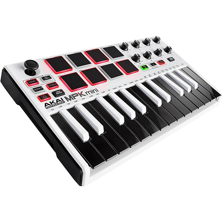 Akai Professional MPK mini MKII Controller Limited Edition White