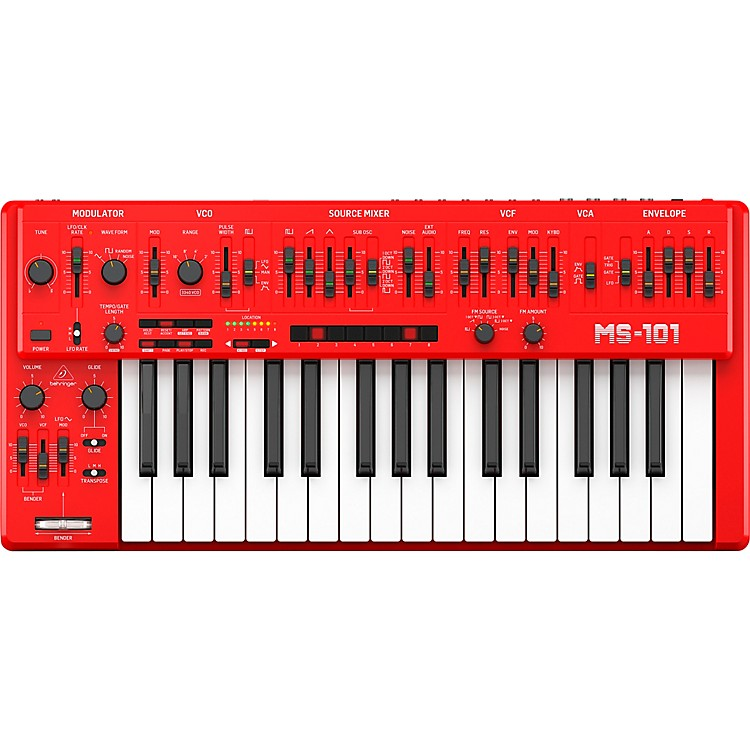 BehringerMS-101-RD 32-Key Analog SynthesizerRed