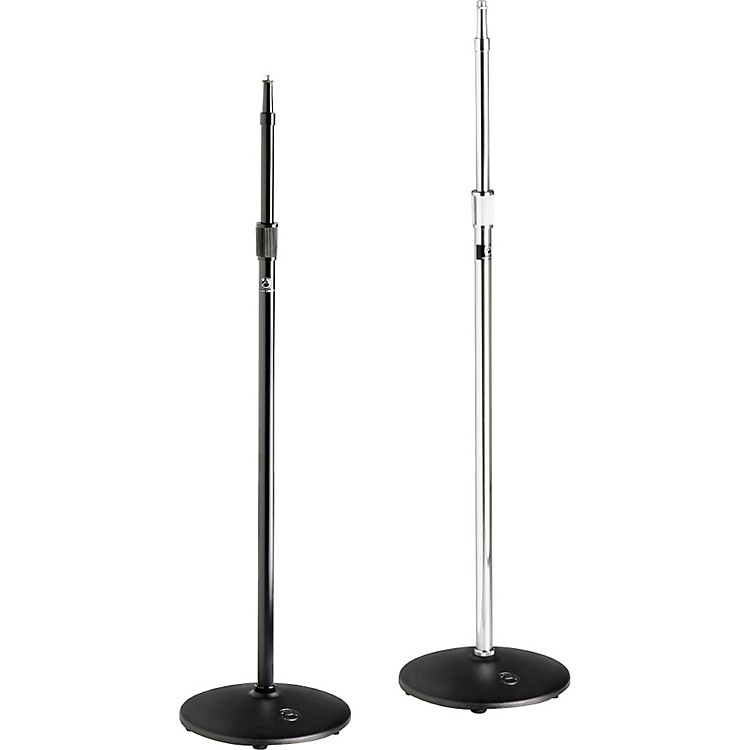 Atlas Sound MS20 Heavy Duty Round Base Mic Stand Ebony