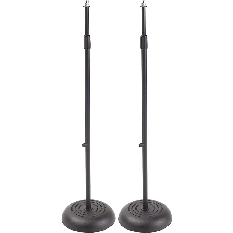 Proline MS235BK Round Base Mic Stand 2 Pack Black