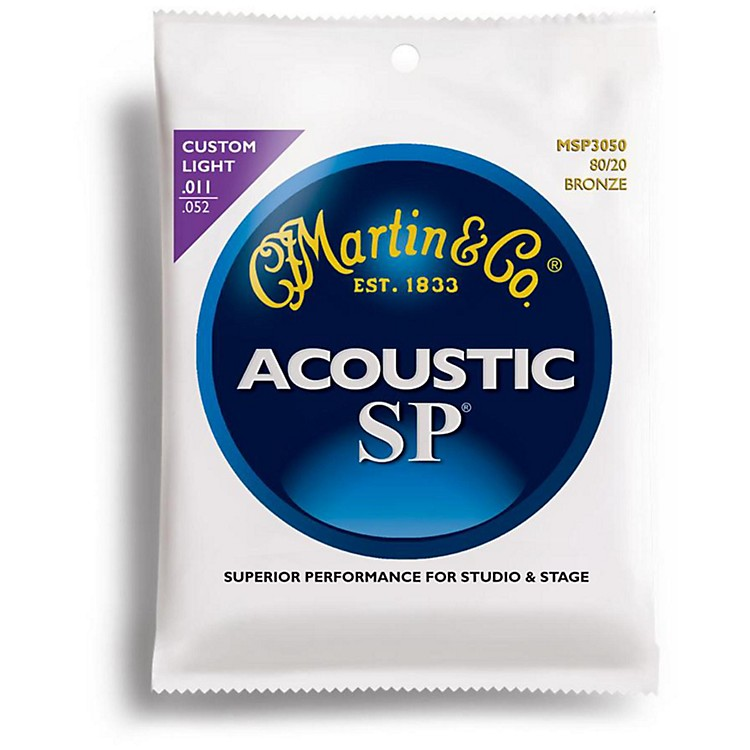 MartinMSP3050 SP 80/20 Bronze Custom Light Acoustic Guitar Strings