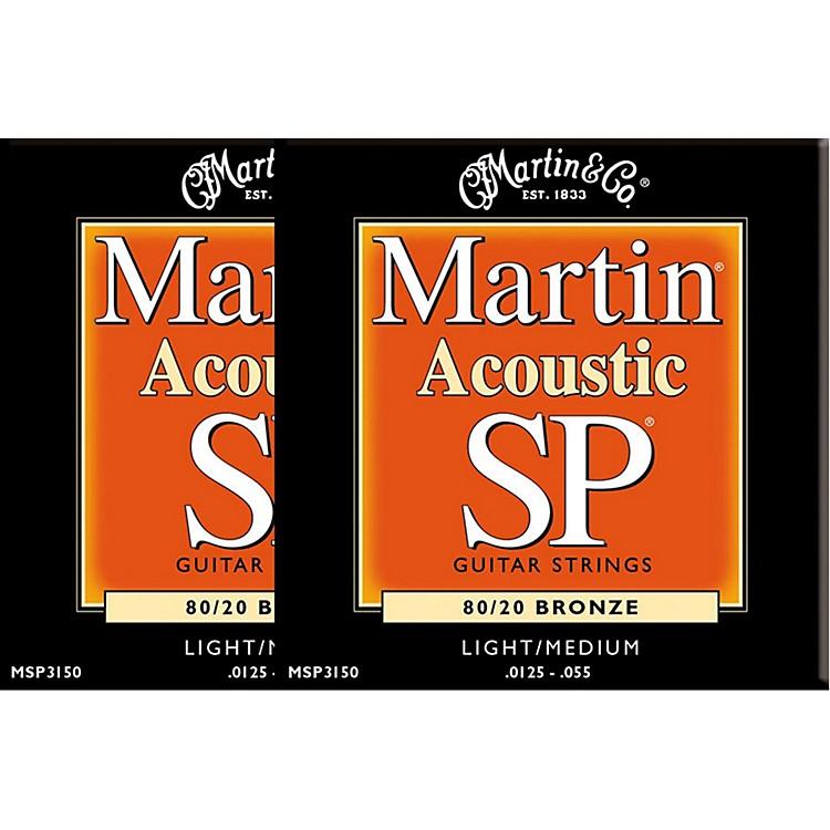 MartinMSP3150 SP Bronze Light/Medium Acoustic Guitar Strings (2 Pack)