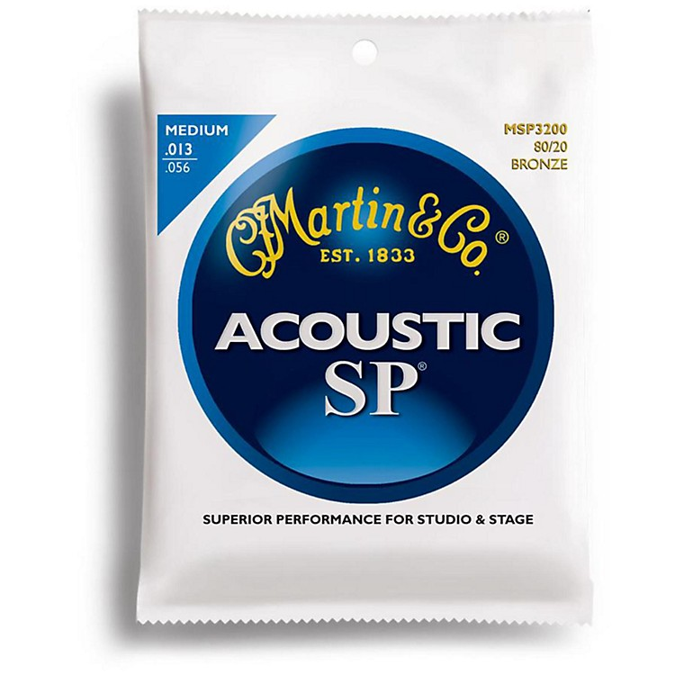 Martin MSP3200 SP 80/20 Bronze Medium Acoustic Guitar Strings