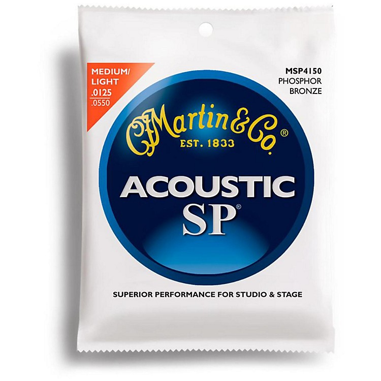 MartinMSP4150 SP Phosphor Light/Medium Acoustic Guitar Strings