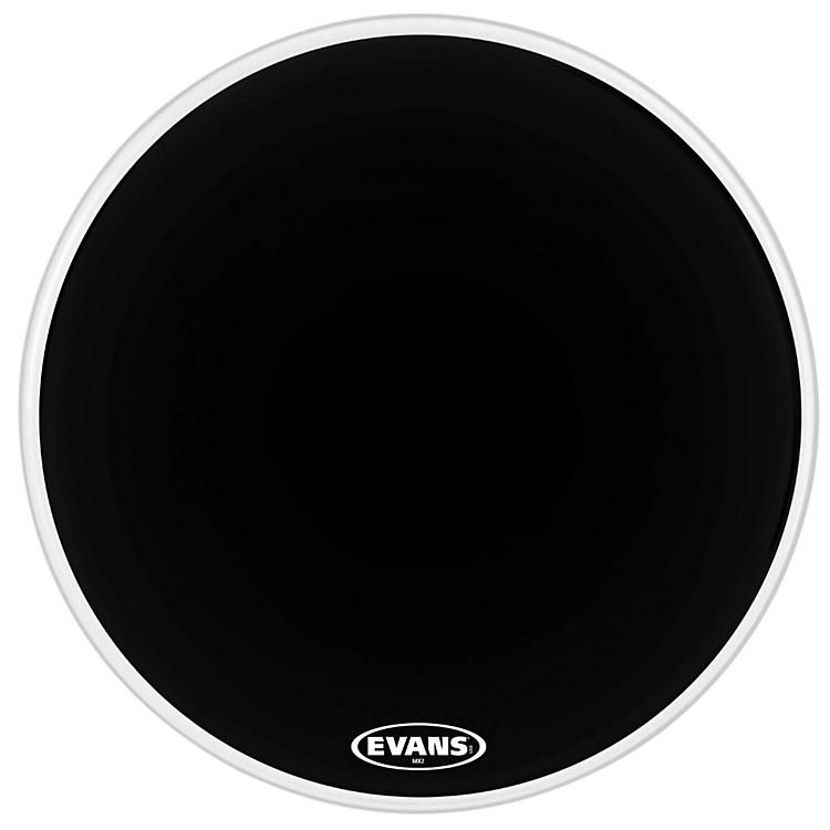 EvansMX2 Black Marching Bass Drum HeadBlack28 in.