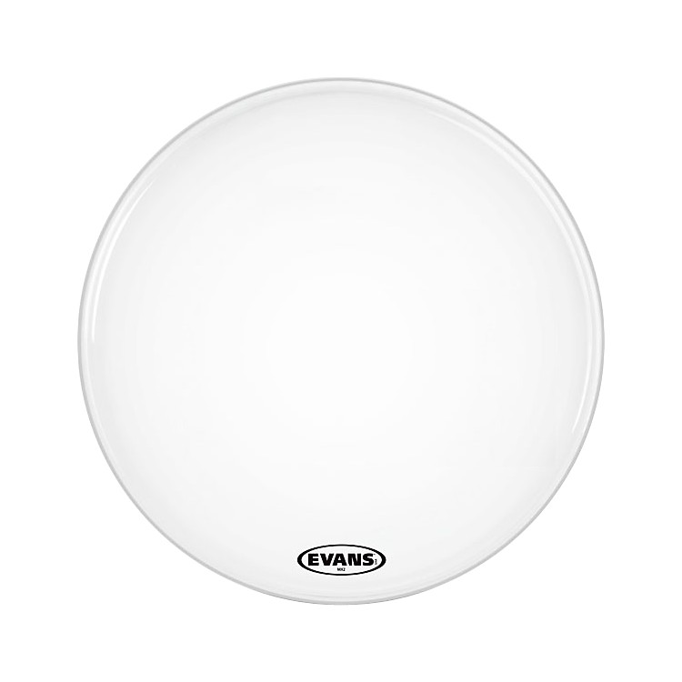 Evans MX2 White Marching Bass Head  28 in.