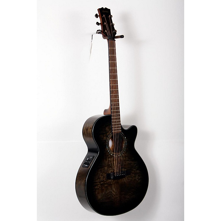 Mitchell MX420 Grand Auditorium Acoustic-Electric Guitar Midnight Black Finish 888365802879