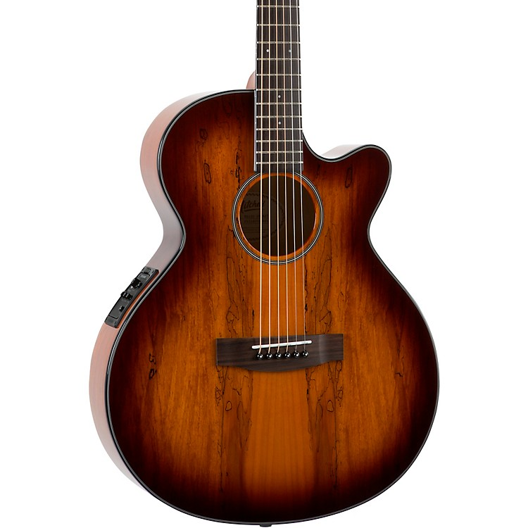 MitchellMX430 Spalted Maple Acoustic-Electric GuitarWhiskey Burst