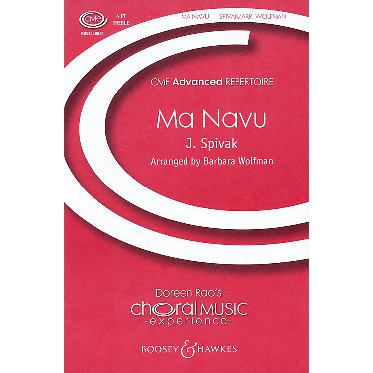 Boosey and HawkesMa Navu (CME Advanced) SSAA composed by J. Spivak arranged by Barbara Wolfman