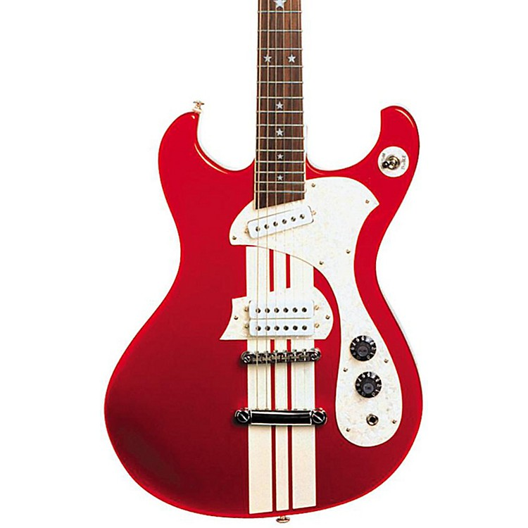 DiPintoMach IV Electric GuitarRed With White Racing Stripes