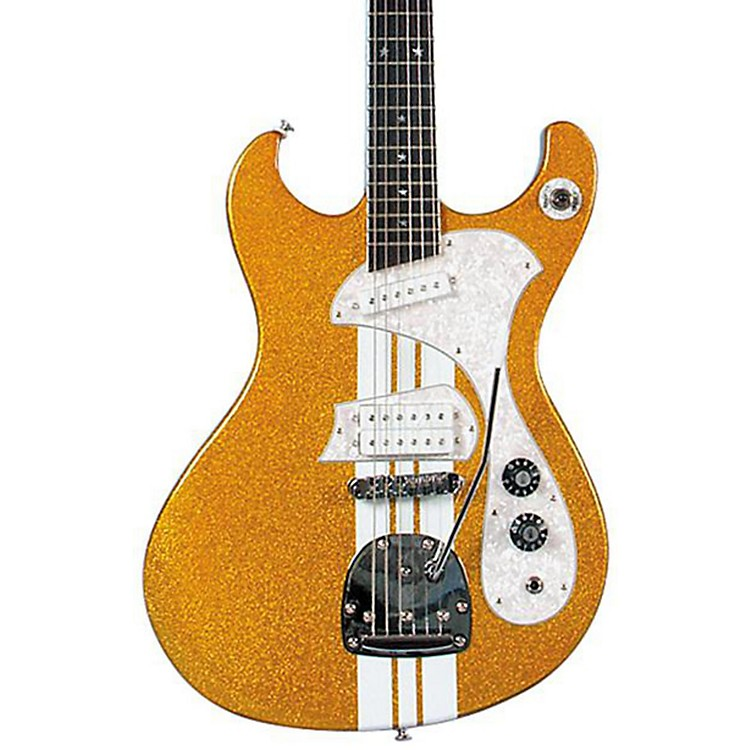 DiPintoMach IV-T Electric GuitarGold Sparkle With White Racing Stripes