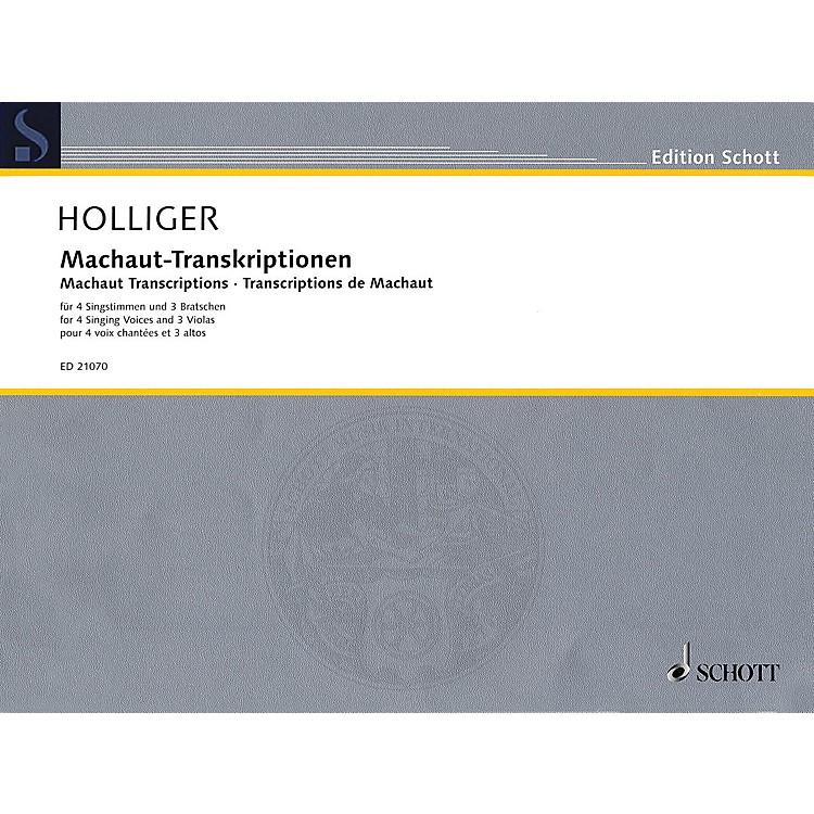 SchottMachaut Transcriptions Schott Series Softcover  by Heinz Holliger