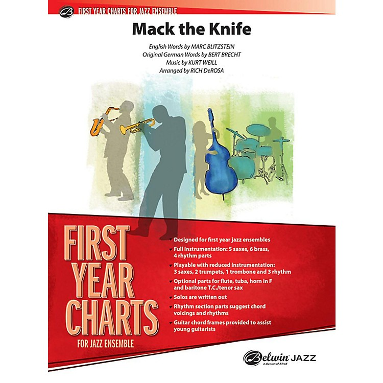 Alfred Mack the Knife Jazz Band Grade 1 Jazz Band Grade 1 Set