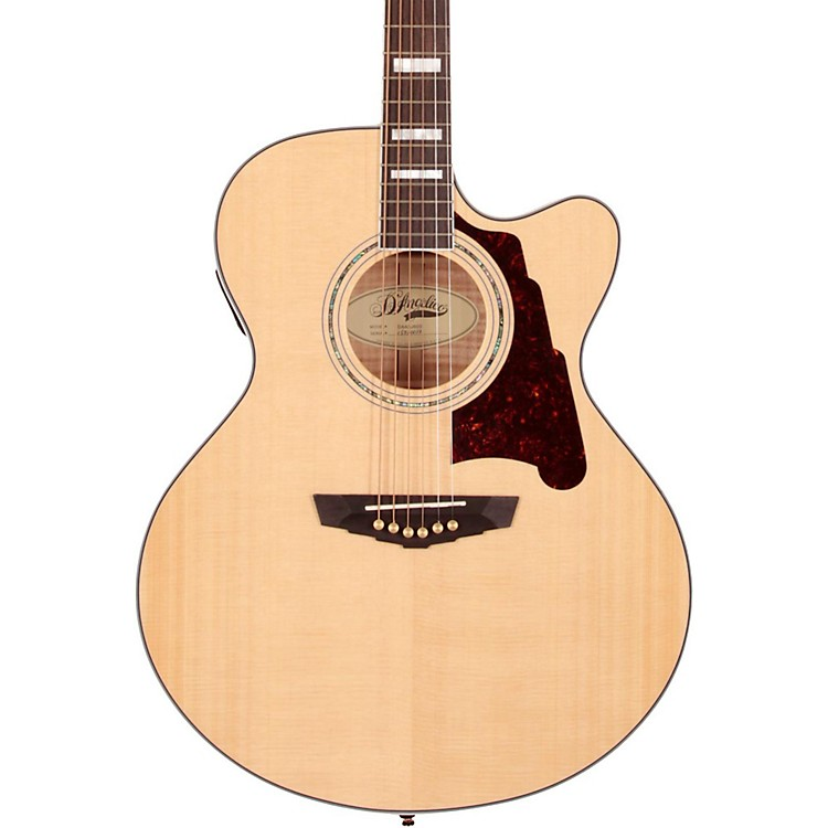 D'Angelico Madison Jumbo Cutaway Acoustic-Electric Guitar Natural