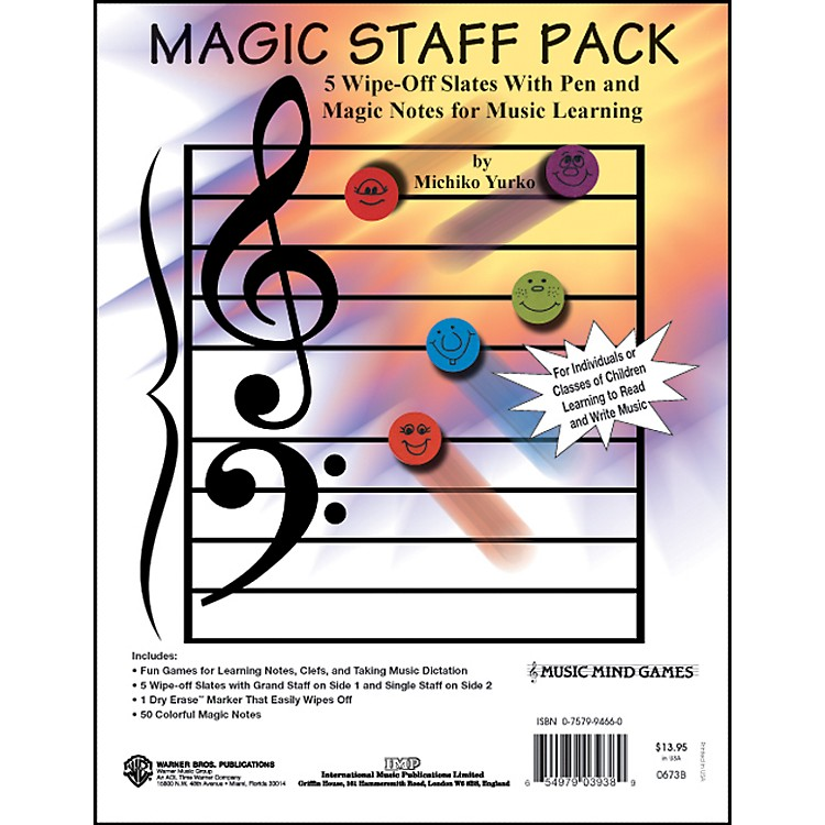 Alfred Magic Staff Pack - 5 Wipe Off Slates with Pen and Magic Notes
