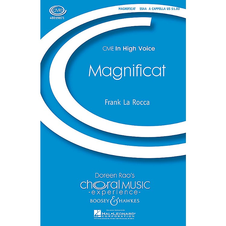 Boosey and HawkesMagnificat (CME In High Voice) SSAA A Cappella composed by Frank La Rocca