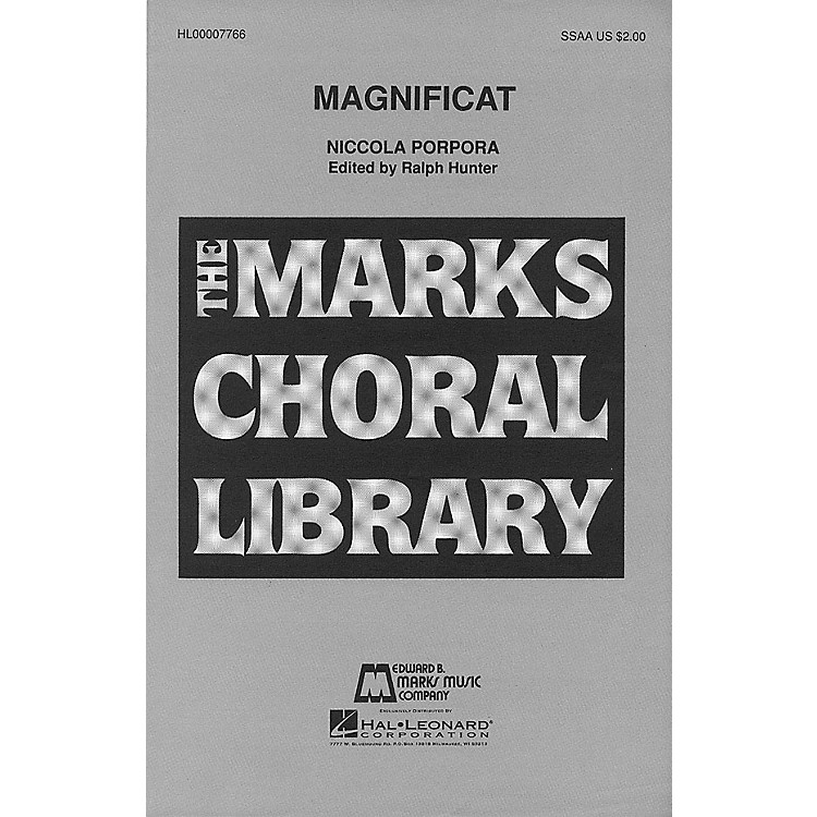 Edward B. Marks Music CompanyMagnificat SSAA composed by Niccola Porpora