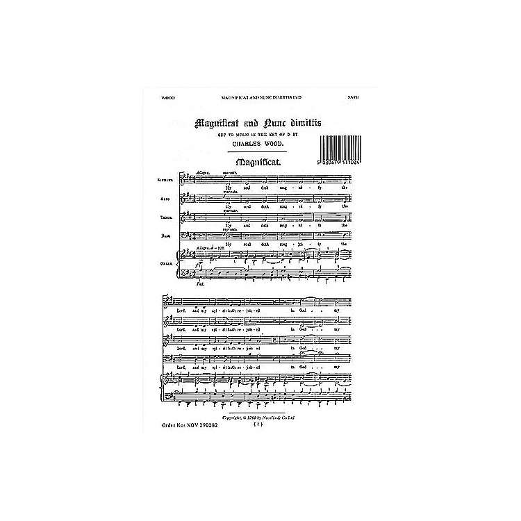 NovelloMagnificat and Nunc Dimittis in D SATB, Organ Composed by Charles Wood
