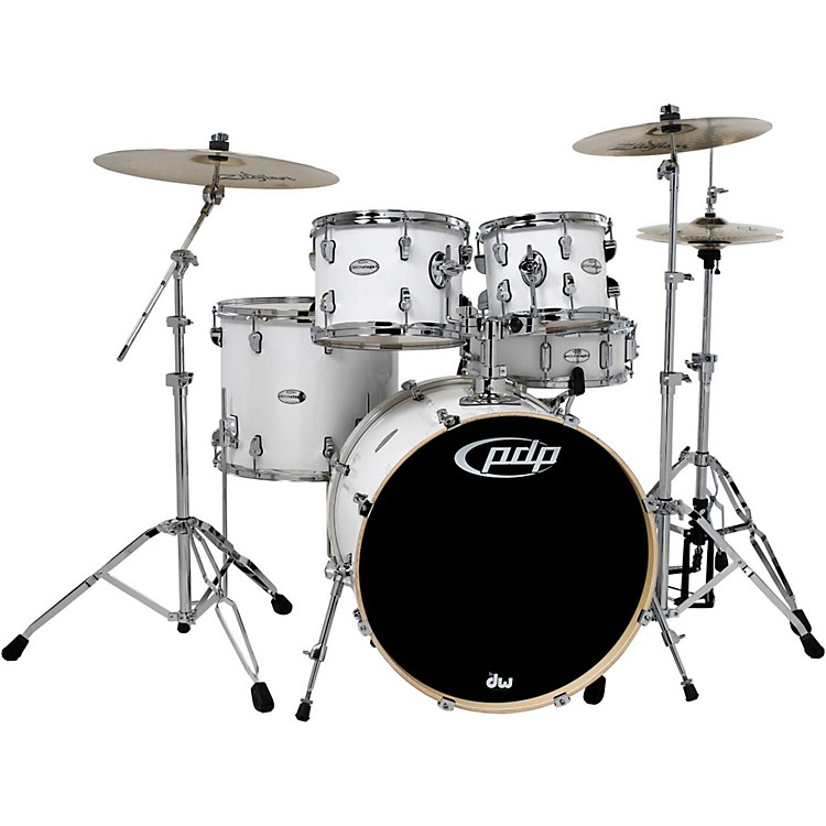 PDPMainstage 5-Piece Drum Set with Zildjian CymbalsGloss White