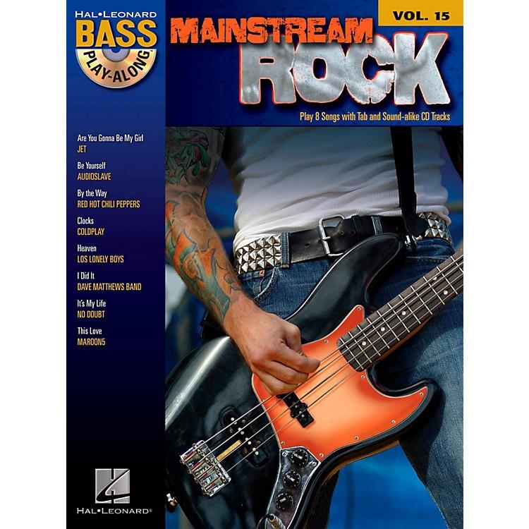 Hal LeonardMainstream Rock - Bass Play-Along Volume 15 Book/CD