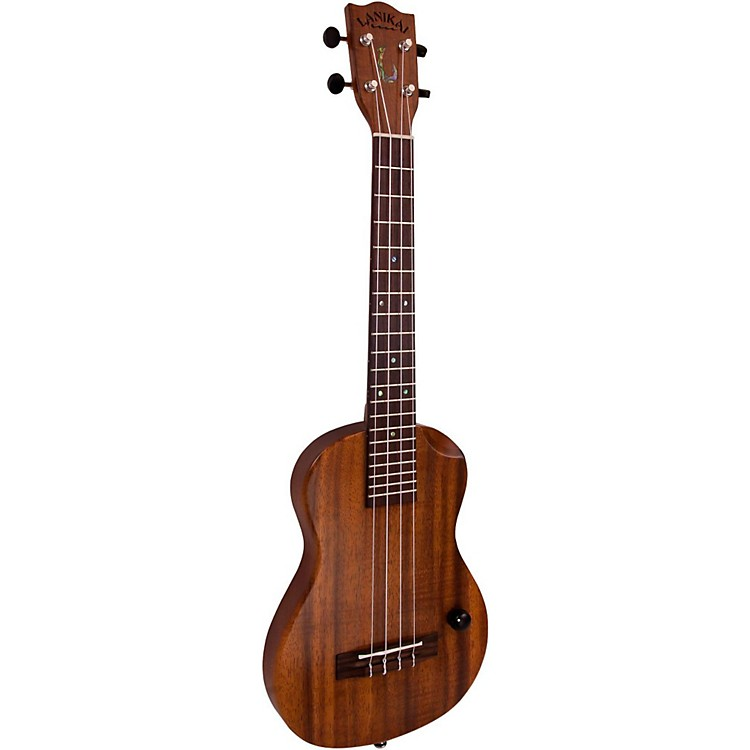Lanikai Makapu u-T Hawaiian Solid Body Acoustic-Electric Tenor Ukulele Koa Top