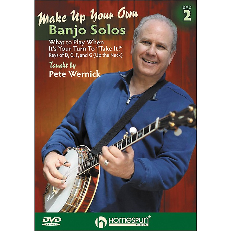 HomespunMake Up Your Own Banjo Solos DVD 2 By Pete Wernick