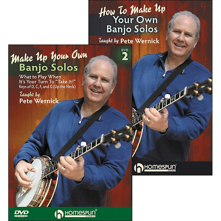 HomespunMake Up Your Own Banjo Solos DVD's (1 & 2) By Pete Wernick