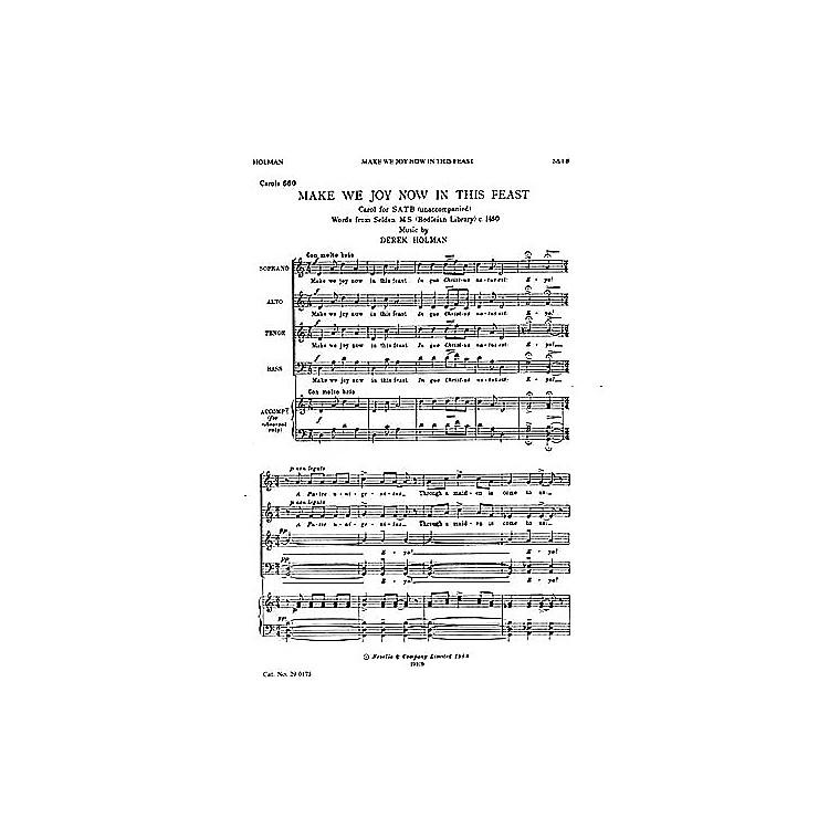 NovelloMake We Joy Now in This Feast SATB Composed by Derek Holman