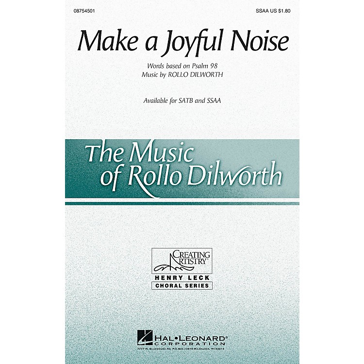 Hal Leonard Make a Joyful Noise! SSAA composed by Rollo Dilworth