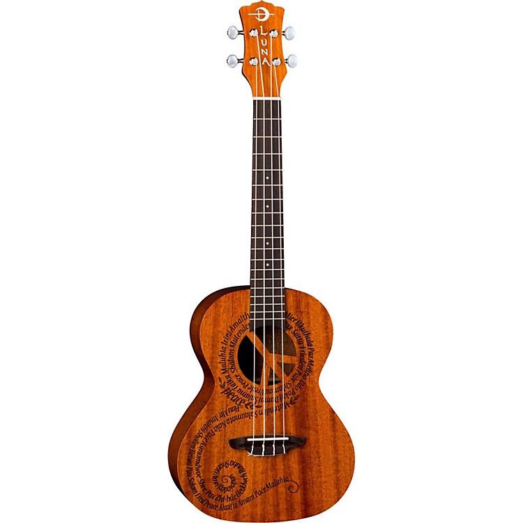Luna GuitarsMaluhia Peace Tenor UkuleleSatin Natural