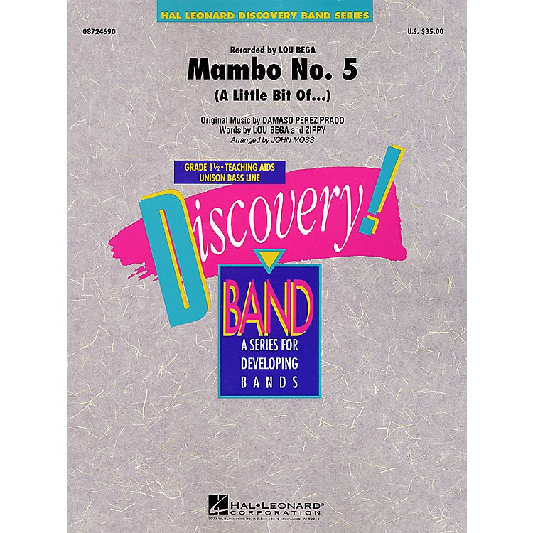 Hal Leonard Mambo No. 5 (A Little Bit Of...) Concert Band Level 1 1/2 Arranged by John Moss