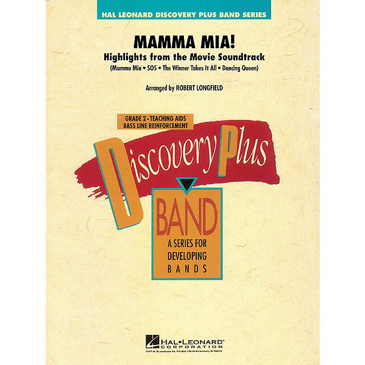 Hal LeonardMamma Mia! - Highlights from the Movie Soundtrack - Band Level 2 arranged by Robert Longfield