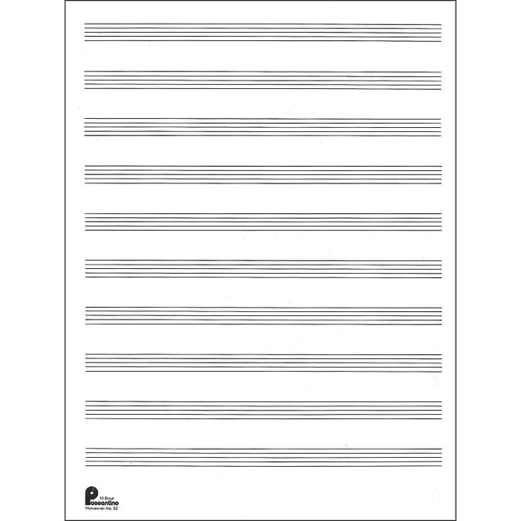 Music Sales Manuscript Paper No.2 24 Double Fold Sheets, 9X12, 10 ...