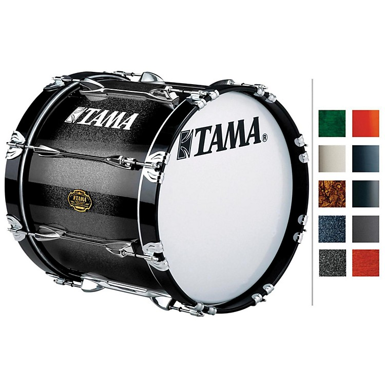 Tama Marching Maple Bass Drum Titanium Silver Metallic 14x18