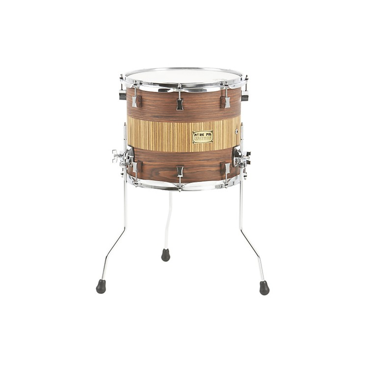 Pork Pie Maple Floor Tom Rosewood Zebra 14 x 12 in.