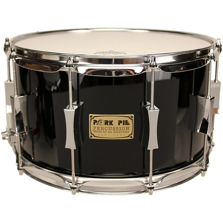 Pork PieMaple/Oak Snare DrumHigh Gloss Black8X14