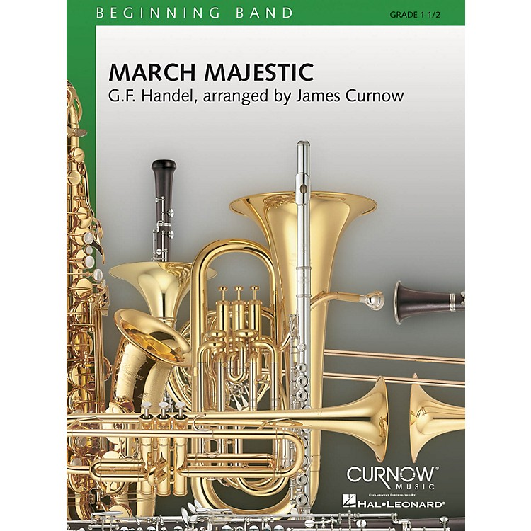 Curnow MusicMarch Majestic (Grade 1.5 - Score Only) Concert Band Level 1.5 Composed by James Curnow