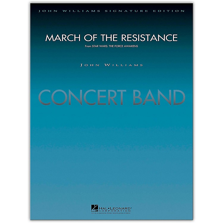Hal Leonard March Of The Resistance Concert Band Level 5 by Paul Lavender