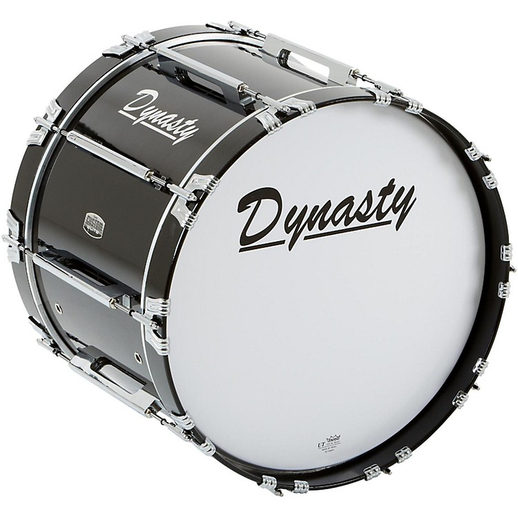 Dynasty Marching Bass Drum Black 20 x 14 in.