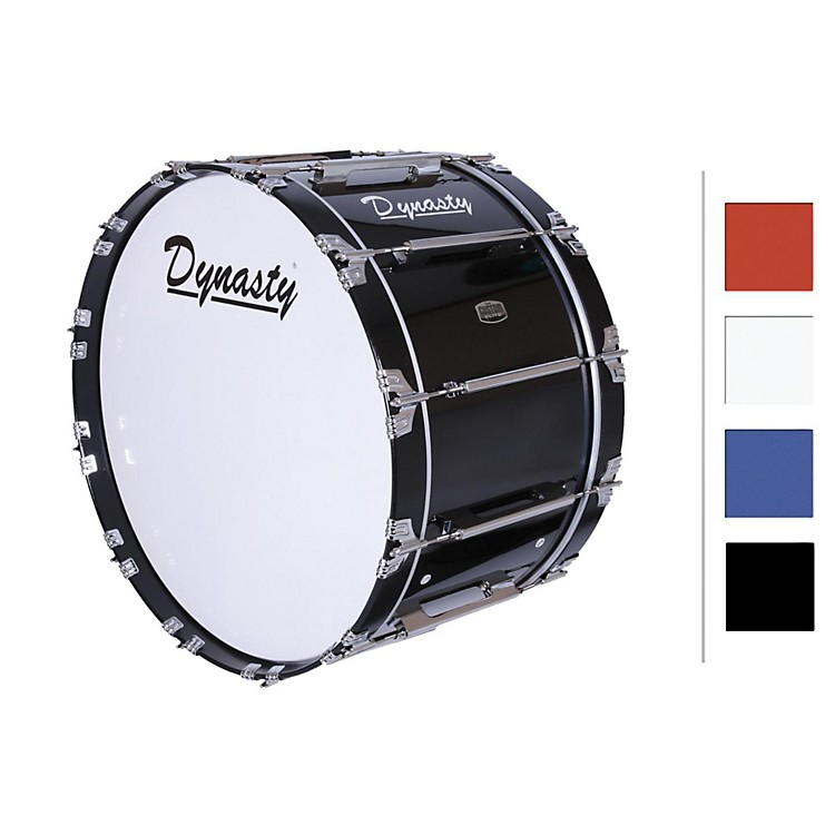 Dynasty Marching Bass Drum Black 16x14
