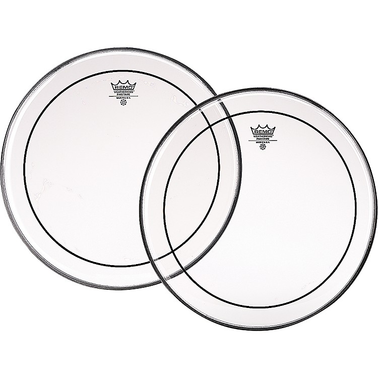 Remo Marching Pinstripe Pro Pack with Free 10 in. Clear Pinstripe Drum Head Clear 6, 8, 10, 12, 13