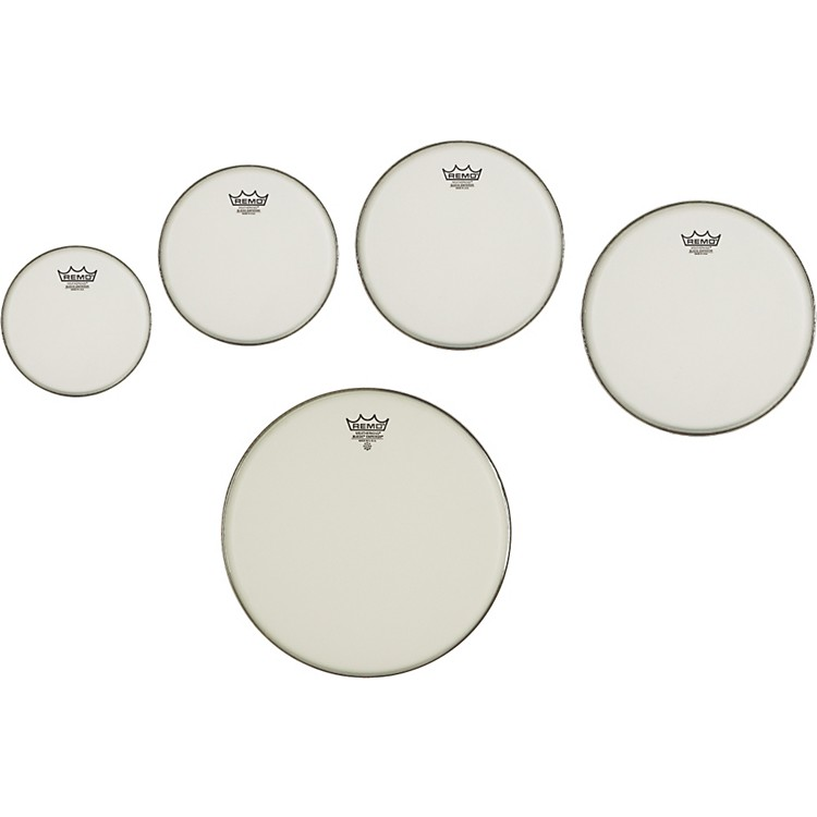 Remo Marching Suede Emperor Crimplock Pro Pack 6, 8, 12 & 14 in., Free 10 in. Suede Emperor Drum Head Suede 6, 8, 10, 12, 14