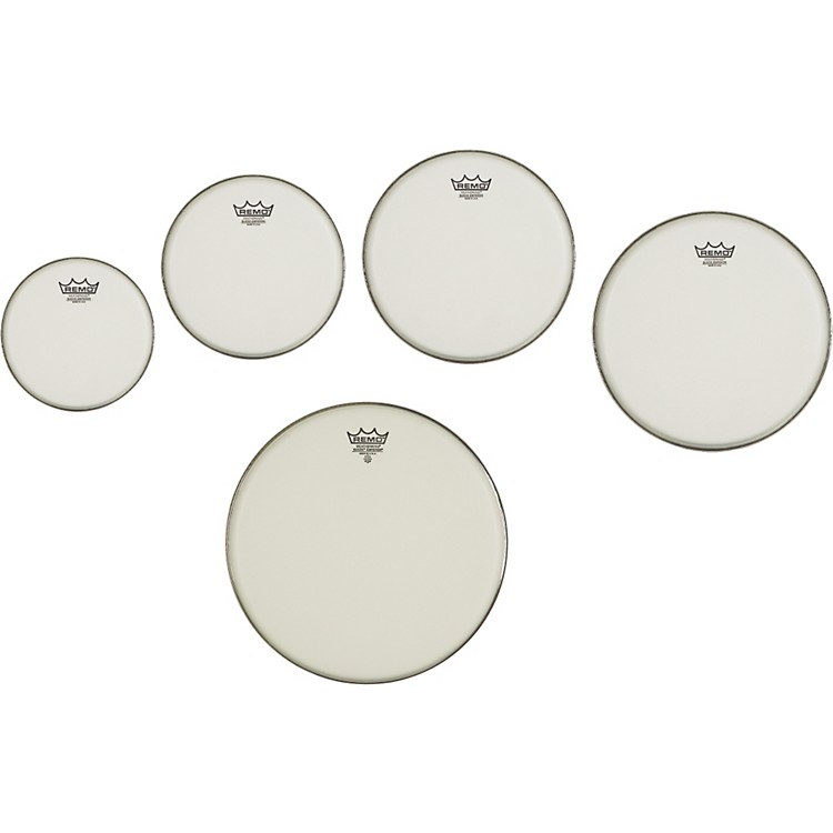 Remo Marching Suede Emperor Crimplock Pro Pack 6, 8, 12 & 13 in., Free 10 in. Suede Emperor Drum Head Suede 6, 8, 10, 12, 13