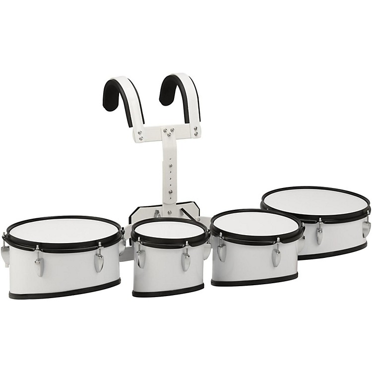 Sound Percussion Labs Marching Tenor Drum with Carrier 8 in.,10 in.,12 in.,13 in. White