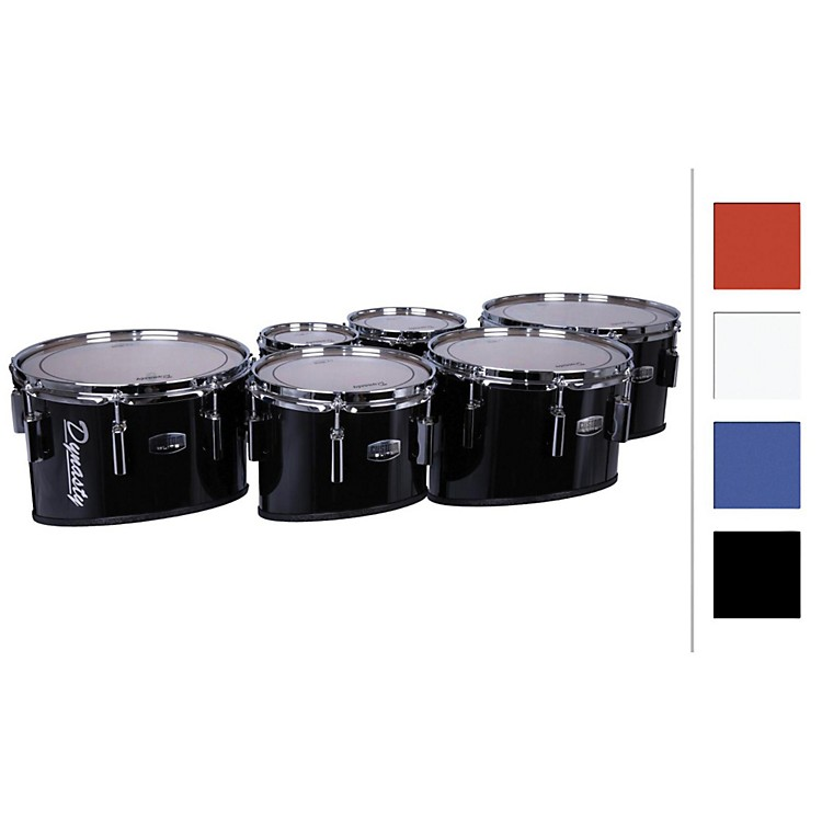 Dynasty Marching Tenor Drums Sextet Black 6